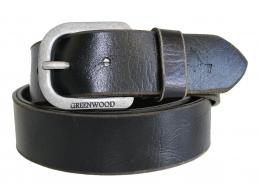 Vintage Gürtel aus robustem geöltem Leder in Schwarz
