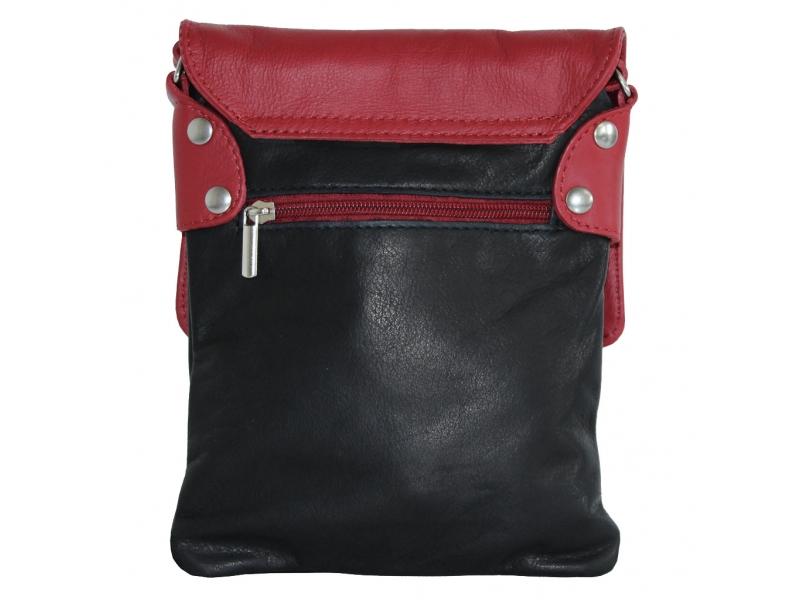 kleine handtasche mit berschlag von hpc hpc lederwaren. Black Bedroom Furniture Sets. Home Design Ideas