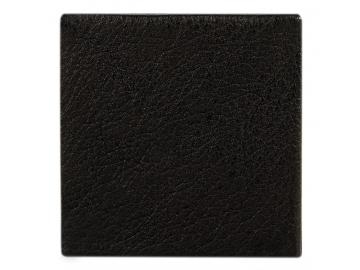 Faltbare Kleingeldbörse Büffel/Velours (Schwarz)